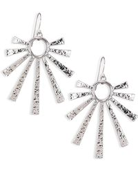 Nest - Hammered Sunburst Drop Earrings - Lyst
