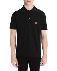 Versace - Cotton Polo Shirt - Lyst