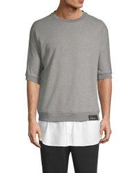3.1 Phillip Lim - Poplin Tail Sweatshirt - Lyst