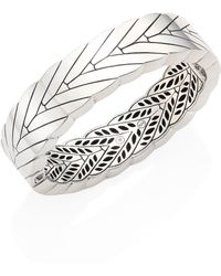 John Hardy - Modern Chain Sterling Silver Hinged Bangle - Lyst