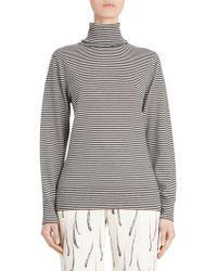 Dries Van Noten - Striped Knit Virgin Wool Turtleneck Sweater - Lyst