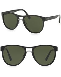 Prada - All Designer Products - 55mm Wayfarer Sunglasses - Lyst