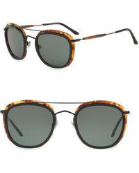 Giorgio Armani - 51mm Aviator Sunglasses - Lyst