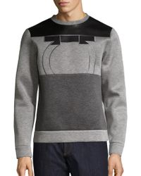 Ferragamo - Leather & Neopene Gancio Sweatshirt - Lyst