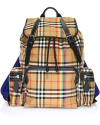 Burberry - The Large Rucksack In Rainbow Vintage Check - Lyst