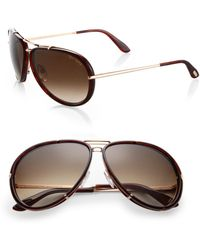 Tom Ford - Cyrille 63mm Aviator Sunglasses - Lyst