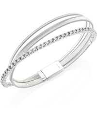 Marco Bicego - Masai Diamond & 18k White Gold Three-row Bracelet - Lyst
