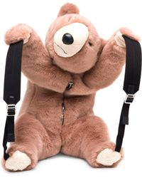 Dolce & Gabbana - Faux Fur Teddy Bear Backpack - Lyst