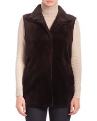 Saks Fifth Avenue - Sheared Mink Fur Vest - Lyst