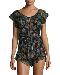 Alice McCALL | Tiny Dancer Sheer Floral Playsuit | Lyst