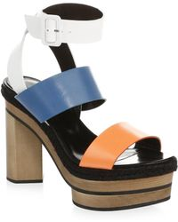 Pierre Hardy | Deck Leather Ankle-strap Sandals | Lyst