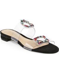 57e80ca747f4fb Lyst - Pedro Garcia Judith Stud T-strap Sandal in Natural