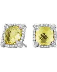 David Yurman - Chatelaine Pave Bezel Stud Earring With Gemstone And Diamonds - Lyst