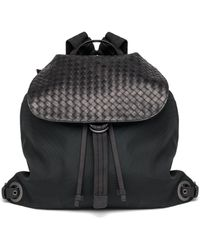 Bottega Veneta - Woven Flap Backpack - Lyst