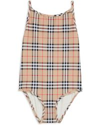 Burberry - Little Girl's & Girl's One-piece Sandie Check Swimsuit - Lyst