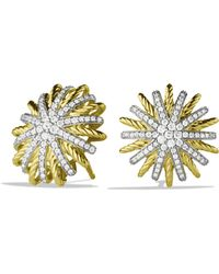David Yurman - Starburst Small Earrings With Diamonds In Gold - Lyst