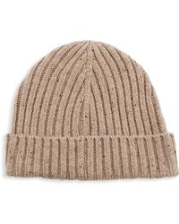 Saks Fifth Avenue - Modern Donegal Ribbed Beanie - Lyst