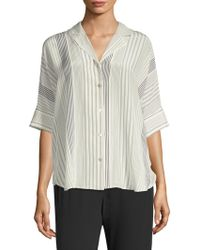 Eileen Fisher - Classic Collar Top - Lyst