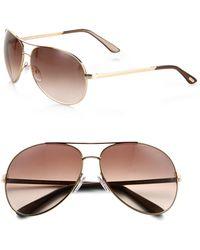 Tom Ford - Charles 62mm Aviator Sunglasses - Lyst
