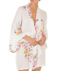 In Bloom - Multicolored Floral Robe - Lyst