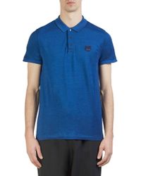 KENZO - Tiger Crest Cotton Polo - Lyst