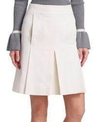 Akris Punto - Box-pleat A-line Skirt - Lyst