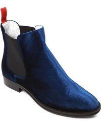 Del Toro - Chelsea Velvet Boots - Lyst