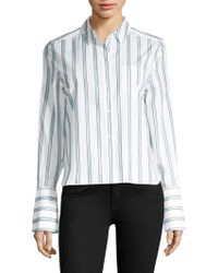 Equipment - Huntley Cotton Striped Blouse - Lyst