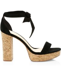Alexandre Birman - Women's New Celine Suede Platform Sandals - Tan - Lyst