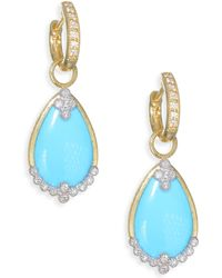 Jude Frances - Provence Diamond Champagne Pear Stone Drop Earring Charms - Lyst