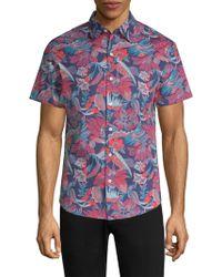 Bonobos - Floral Cotton Slim-fit Button-down Shirt - Lyst