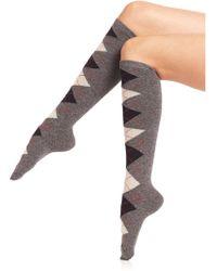 Ilux - Pat Argyle Knee-high Socks - Lyst