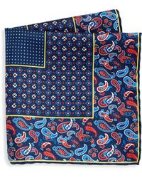 Saks Fifth Avenue - Collection Silk Paisley Pocket Square - Lyst