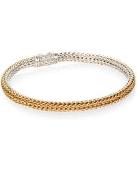John Hardy - Classic Chain 18k Yellow Gold & Sterling Silver Extra-small Reversible Bracelet - Lyst