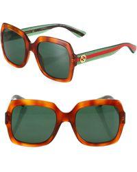 67a12ac3b0 Lyst - Gucci Gg3817 s Rkq Glitter Grey Square Sunglasses in Gray