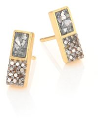 Shana Gulati - Banjara Alwar Sliced Raw & Champagne Diamond Stud Earrings - Lyst