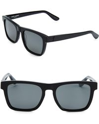 2fce24d006a Lyst - Saint Laurent Acetate Square Sunglasses in Black for Men