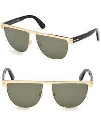 c0c03627ba Tom Ford - 60mm Stephanie Shiny Gold Sunglasses - Lyst