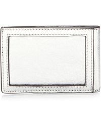 Rebecca Minkoff | Metallic Leather Metro Card Case | Lyst