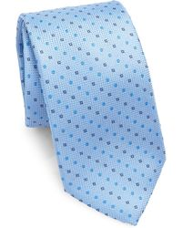 Saks Fifth Avenue - Collection Dots & Diamonds Silk Tie - Lyst