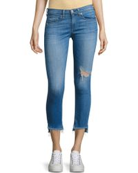 Rag & Bone - Step Hem Distressed Capri Skinny Jeans/sunset - Lyst