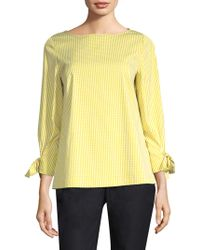 Lafayette 148 New York - Paige Gingham Plaid Blouse - Lyst