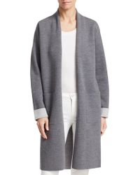 Theory - Double Face Wool-blend Cardigan - Lyst