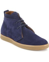 Saks Fifth Avenue - Double Layer Suede Chukka Boots - Lyst