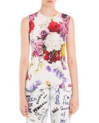 Dolce & Gabbana - Sleeveless Floral Top - Lyst