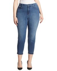 NYDJ - Nichelle Frayed Ankle Skinny Jeans - Lyst