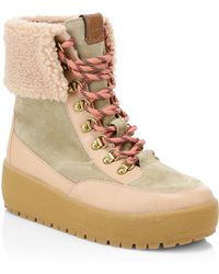 COACH - Tyler Foldover Shearling Boots - Lyst