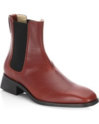Stella McCartney - Leather Chelsea Boots - Lyst