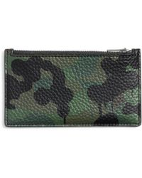 COACH - Wild Beast Zip Military Leather Card Case - Lyst