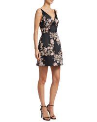 ML Monique Lhuillier - Plunging Mini Dress - Lyst